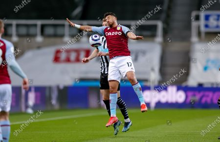 Stock Picture of Aston Villa midfielder Mahmoud Hassan (17) challenges for the ball during the Premier League match between Newcastle United and Aston Villa at St. James's Park, Newcastle