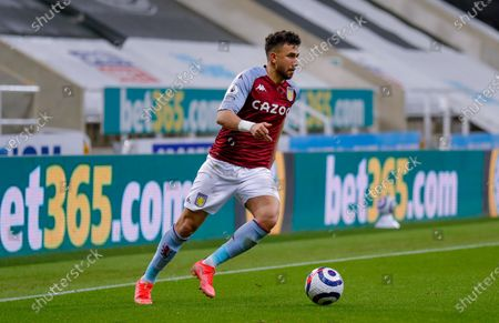 Stock Photo of Aston Villa midfielder Mahmoud Hassan (17)  during the Premier League match between Newcastle United and Aston Villa at St. James's Park, Newcastle