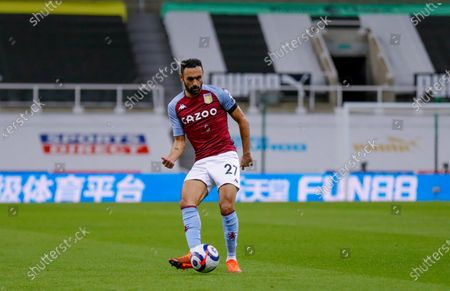Aston Villa defender Ahmed Elmohamady (27)  during the Premier League match between Newcastle United and Aston Villa at St. James's Park, Newcastle