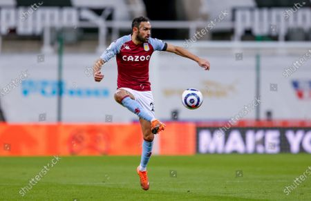 Stock Picture of Aston Villa defender Ahmed Elmohamady (27) controls the ball during the Premier League match between Newcastle United and Aston Villa at St. James's Park, Newcastle