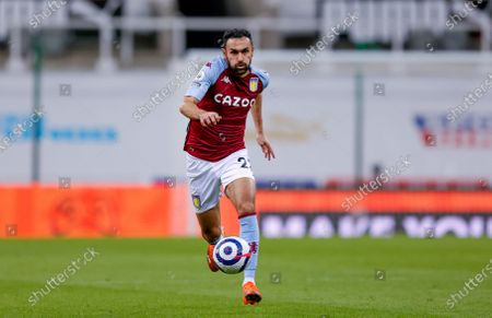 Aston Villa defender Ahmed Elmohamady (27) runs with the ball during the Premier League match between Newcastle United and Aston Villa at St. James's Park, Newcastle