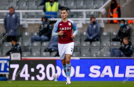 Aston Villa forward Anwar El Ghazi (21)  during the Premier League match between Newcastle United and Aston Villa at St. James's Park, Newcastle