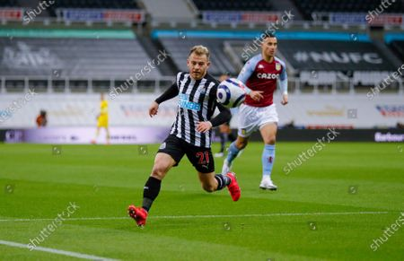 Newcastle United midfielder Ryan Fraser (21)  during the Premier League match between Newcastle United and Aston Villa at St. James's Park, Newcastle
