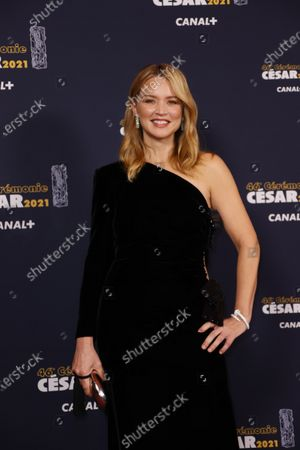 Belgian actress Virginie Efira poses prior to the 46th Cesar Award ceremony on in Paris