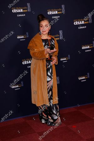 French singer Catherine Ringer poses prior to the 46th Cesar Award ceremony on in Paris