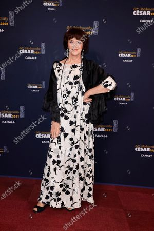 Stock Photo of French actress Annie Duperey poses prior to the 46th Cesar Award ceremony on in Paris