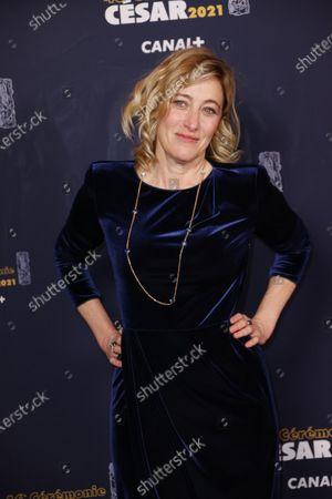 French Italian actress Valeria Bruni Tedeschi poses prior to the 46th Cesar Award ceremony on in Paris