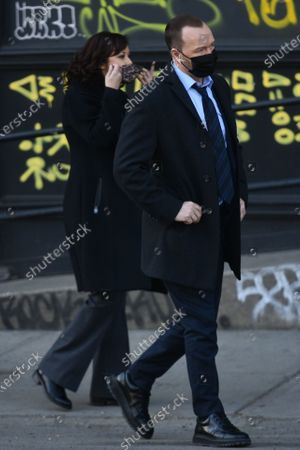 Editorial photo of Donnie Wahlberg and Marisa Ramirez out and about, New York City, New York, USA - 12 Mar 2021