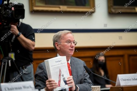 """Editorial image of House Armed Services Committee, Subcommittee on Cyber, Innovative Technologies, and Information Systems and the House Committee on Oversight & Reform's Subcommittee on National Security Joint hearing: """"Final Recommendations of the National Security Co, Was"""