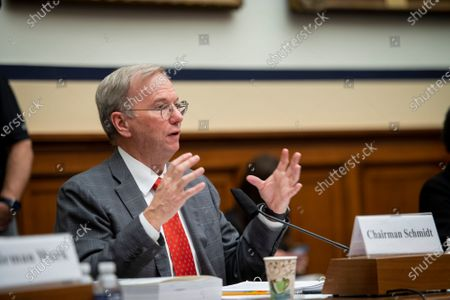 """Editorial photo of House Armed Services Committee, Subcommittee on Cyber, Innovative Technologies, and Information Systems and the House Committee on Oversight & Reform's Subcommittee on National Security Joint hearing: """"Final Recommendations of the National Security Co, Was"""