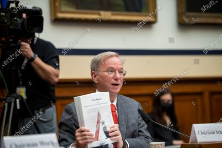 """Editorial picture of House Armed Services Committee, Subcommittee on Cyber, Innovative Technologies, and Information Systems and the House Committee on Oversight & Reform's Subcommittee on National Security Joint hearing: """"Final Recommendations of the National Security Co, Was"""