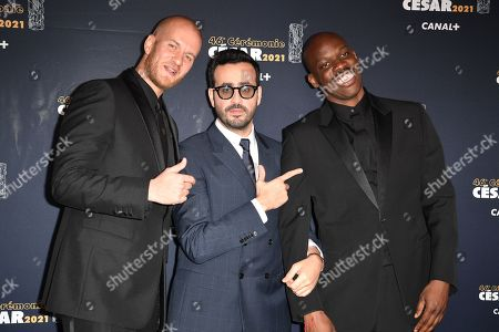 French film director John Wax, French actor Jonathan Cohen and French actor Jean-Pascal Zadi