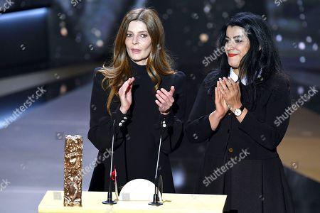 Stock Image of Chiara Mastroianni and Marjane Satrapi