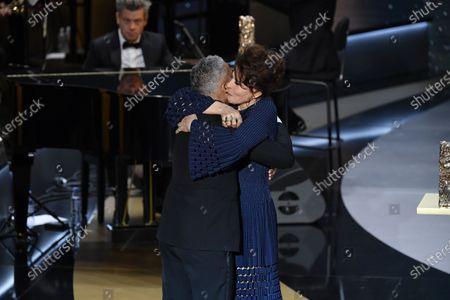 Fanny Ardant, Sami Bouajila receives the Best Actor Cesar award for the movie 'Un Fils'