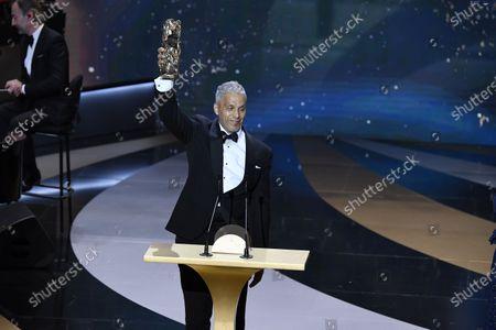 Sami Bouajila receives the Best Actor Cesar award for the movie 'Un Fils'