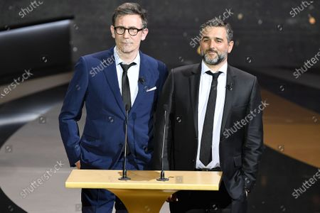 Stock Picture of Michel Hazanavicius and Olivier Nakache