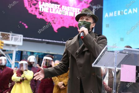 BD Wong participating in We Will Be Back, presented by Broadway Cares/Equity Fights AIDS, NYCNext, and the Times Square Alliance, held in Duffy Square.