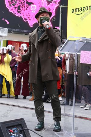 Stock Photo of BD Wong participating in We Will Be Back, presented by Broadway Cares/Equity Fights AIDS, NYCNext, and the Times Square Alliance, held in Duffy Square.