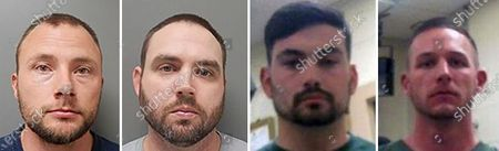 "This combination of photos provided by the Ouachita Correctional Center and Franklin Parish Sheriff's Office shows Louisiana State Police Troopers Jacob Brown, left to right, Randall Dickerson, George Harper and Dakota DeMoss. New court filings show Louisiana State Police troopers joked in a group text about beating a Black man after a high-speed chase last year, saying the beating would give the man ""nightmares for a long time."" The May 2020 arrest of Antonio Harris bears strong resemblance to the State Police pursuit a year earlier that ended in the still-unexplained death of Ronald Greene"