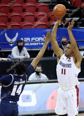Editorial picture of MWC Nevada San Diego St Basketball, Las Vegas, United States - 12 Mar 2021