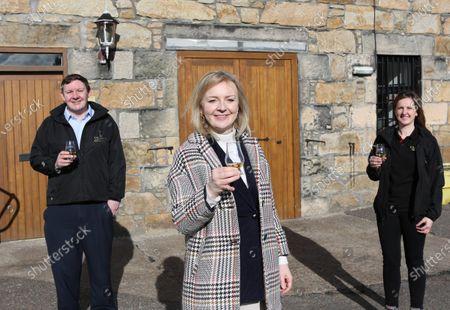 Editorial photo of International Trade Secretary Liz Truss visits Cardhu Distillery and Johnstons of Elgin woolen mill, Scotland - 12 Mar 2021
