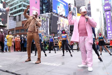 Editorial photo of 'We Will Be Back' event, Duffy Square, New York, USA - 12 Mar 2021