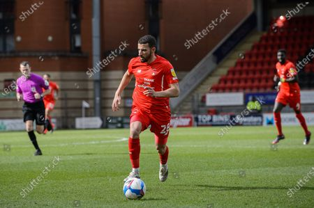 Leyton orient Nick Freeman (28) during the EFL Sky Bet League 2 match between Leyton Orient and Scunthorpe United at the Breyer Group Stadium, London