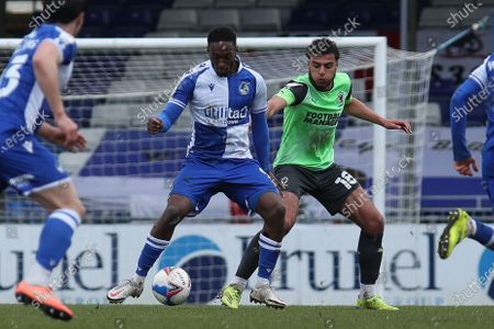 Editorial picture of Bristol Rovers v AFC Wimbledon, UK - 13 Mar 2021