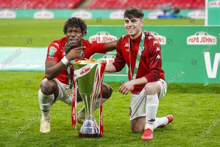 Editorial photo of Portsmouth v Salford City, EFL Trophy., Trophy Final - 13 Mar 2021