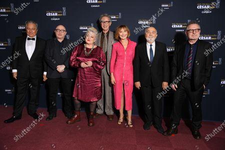 The Splendid (L to R) : Christian Clavier, Michel Blanc, Josiane Balasko, Thierry Lhermitte, Marie-Anne Chazel, Gerard Jugnot and Bruno Moynot