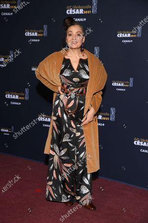 Editorial picture of 46th Cesar Film Awards 2021, Red Carpet/Arrivals, Paris, France - 12 Mar 2021