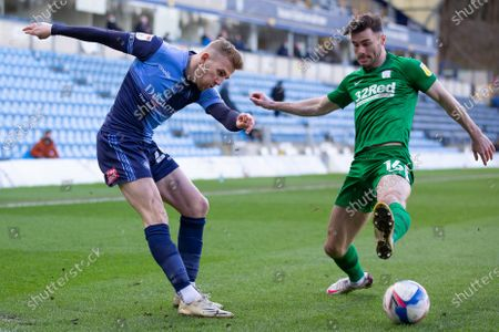 Editorial picture of Wycombe Wanderers v Preston North End EFL Sky Bet Championship, Football,  Adams Park, High Wycombe, UK - 13 Mar 2021