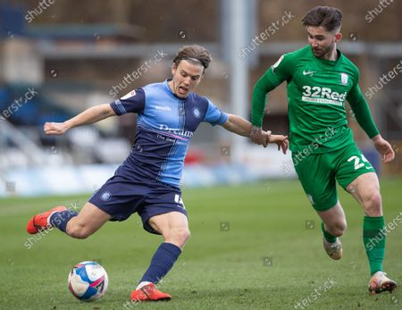 Editorial image of Wycombe Wanderers v Preston North End EFL Sky Bet Championship, Football,  Adams Park, High Wycombe, UK - 13 Mar 2021