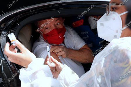 Editorial photo of Lula gets vaccinated, Sao Bernardo, Brazil - 13 Mar 2021