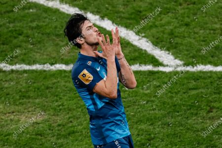 Sardar Azmoun of Zenit Saint Petersburg reacts during the Russian Premier League match between FC Zenit Saint Petersburg and FC Akhmat Grozny on March 13, 2021 at Gazprom Arena in Saint Petersburg, Russia.