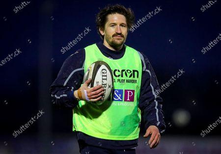 Connacht vs Edinburgh. Edinburgh's Henry Pyrgos during the warm-up