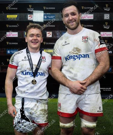Dragons vs Ulster. Ulster's Michael Lowry is presented with the Guinness PRO14 Player of the Match Award by Alan O'Connor