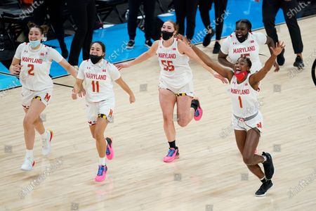 Editorial picture of B10 Iowa Maryland Basketball, Indianapolis, United States - 13 Mar 2021