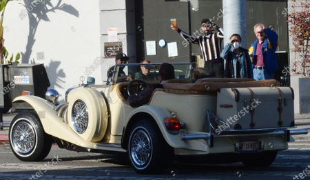 Stock Picture of Exclusive - Arnold Schwarzenegger and Heather Milligan enjoy Saturday afternoon in a vintage Excalibur in Brentwood