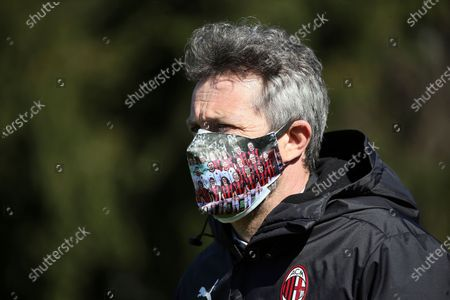 Maurizio Ganz of AC Milan looks on during the Women Coppa Italia match between FC Internazionale and AC Milan at Stadio Ernesto Breda on March 14, 2021 in Sesto San Giovanni, Italy.