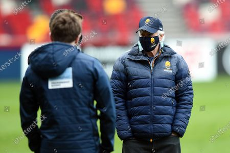 Worcester Warriors Director of Rugby Alan Solomons looks on prior to the match