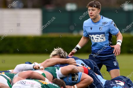 Benetton Rugby vs Cardiff Blues. Cardiff's Jamie Hill