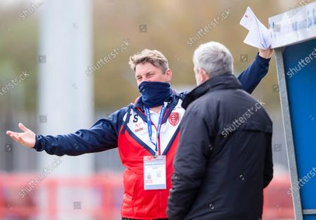 Stock Photo of Hull KRs Tony Smith pitchside prior to kick off against Castleford.