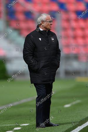 """Claudio Ranieri  Coach (Sampdoria)        during the Italian """"Serie A"""" match between Bologna 3-1 Sampdoria  at  Renato Dall Ara Stadium in Bologna, Italy."""