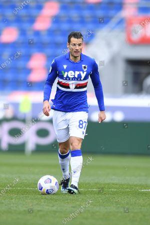 """Antonio Candreva (Sampdoria)        during the Italian """"Serie A"""" match between Bologna 3-1 Sampdoria  at  Renato Dall Ara Stadium in Bologna, Italy."""