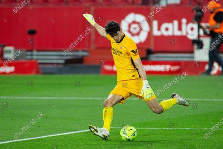 "Yassine Bounou ""Bono"" of Sevilla during LaLiga, football match played between Sevilla Futbol Club and Real Betis Balompie at Ramon Sanchez Pizjuan Stadium on March 14, 2021 in Sevilla, Spain."