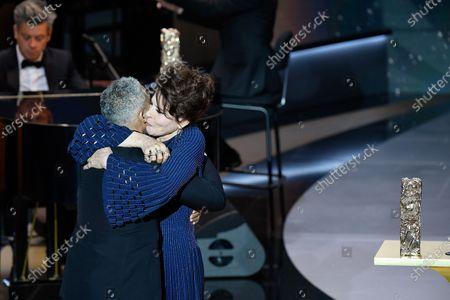 Stock Photo of Fanny Ardant, Marina Fois and Sami Bouajila receives the Best Actor Cesar at 46th Cesar Film Awards 2021 ceremony at l'Olympia
