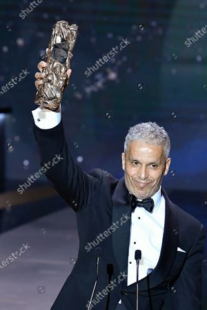 Sami Bouajila receives the Best Actor Cesar at 46th Cesar Film Awards 2021 ceremony at l'Olympia