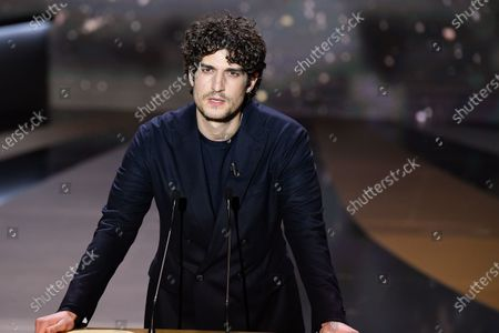 Louis Garrel speaks on stage during the 46th Cesar Film Awards Ceremony At L'Olympia on March 12, 2021 in Paris, France.