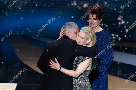 Fanny Ardant, Marina Fois and Sami Bouajila receives the Best Actor Cesar at 46th Cesar Film Awards 2021 ceremony at l'Olympia